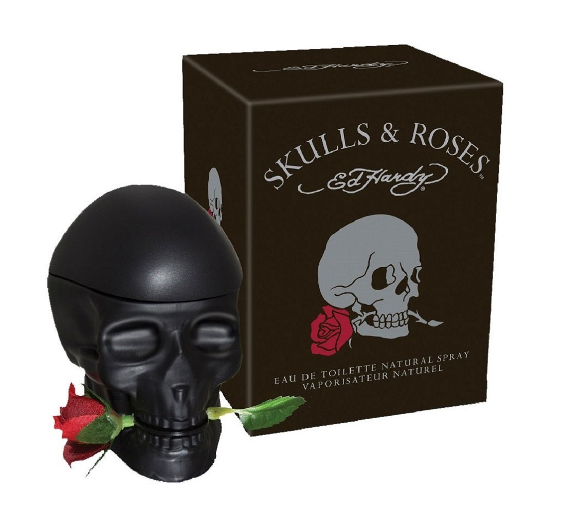 Amazon.com : Skulls And Roses ED Hardy Colognes For Men, 2.5 Ounce : Beauty