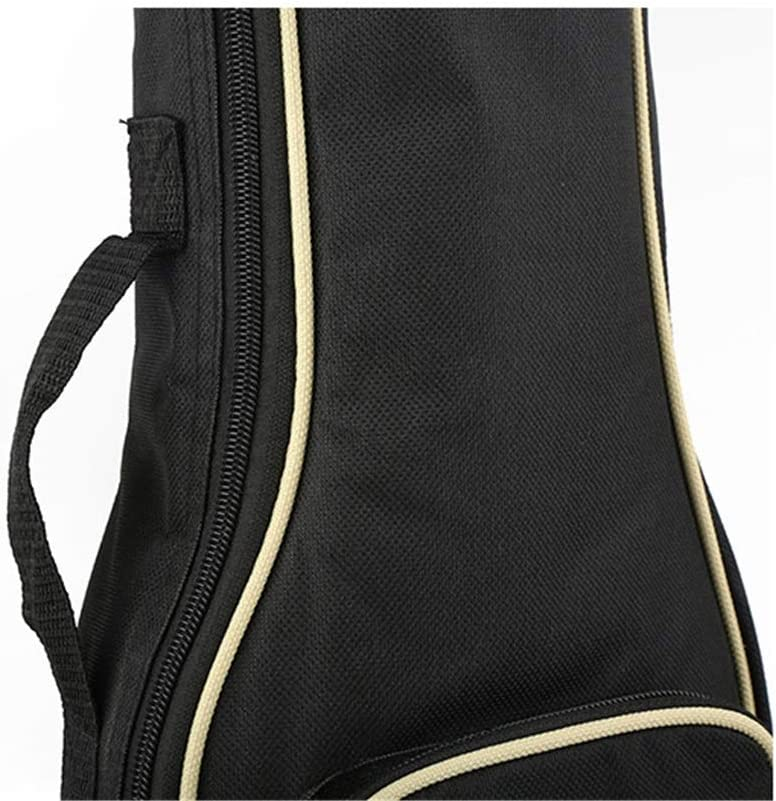 Lumeng Acoustic Guitar Bag 21 Inch 23 Inch 26 Inch Ukulele Cotton Bag Ukulele Small Guitar Bag Guitar Bag Piano Bag Color : Black, Size : 26 inch