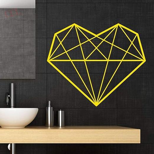 hetingyue Colorido geométrico en Forma de corazón Impermeable ...