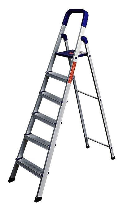 Parasnath Home Pro 6-Steps Folding Ladder (Blue)