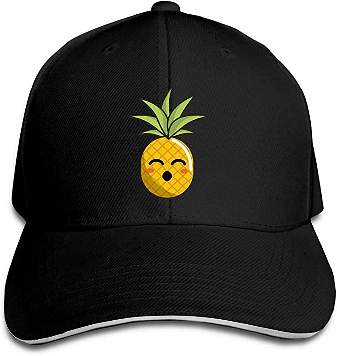 Gorra de béisbol Kawaii Cute Pineapple Cotton Dad Hat Ajustable ...