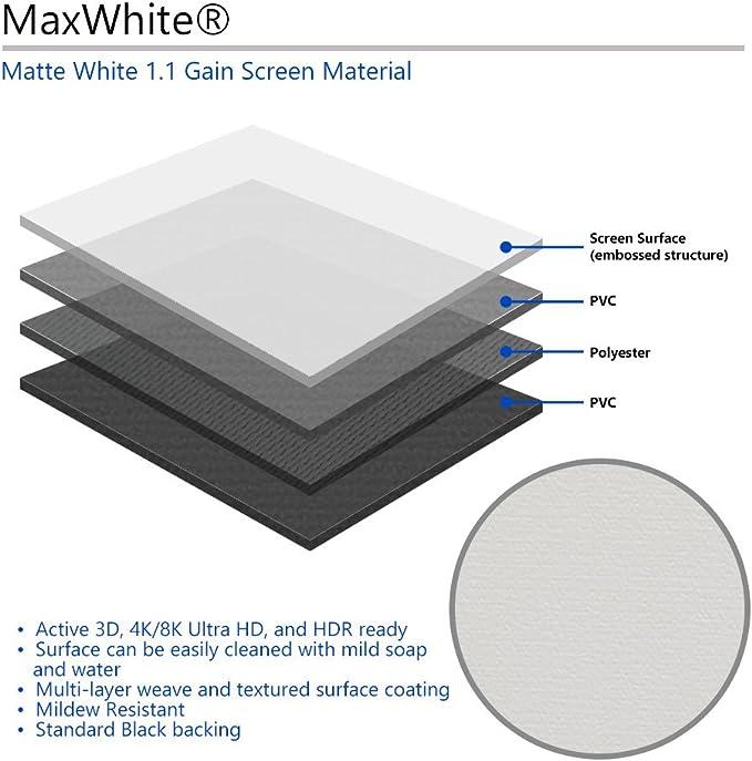 Format 1:1 Elite Screens M85XWS1 Manual Series Projektor Leinwand ...