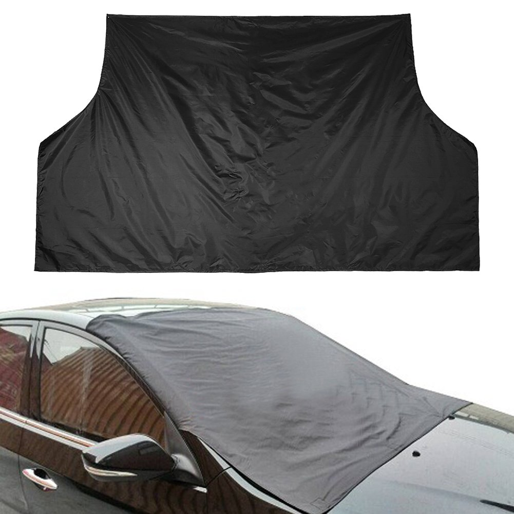 Universal Polyester Auto Car Window Cover Sunshade Snow Ice Protector Truck SUV Magnetic Car Windshield Cover Sun Snow All Weather