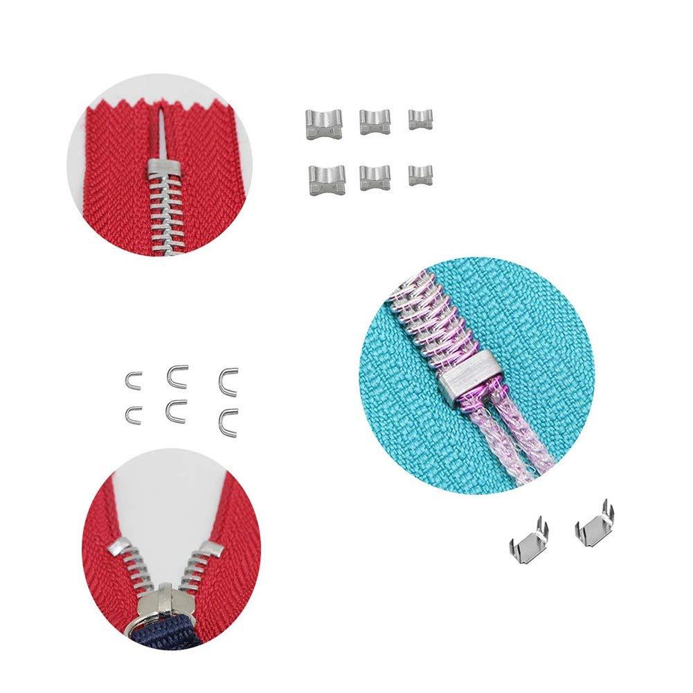 Tende Kit di Sostituzione con Cerniera per Installare Pinze per Borse Queta Riparazione Cerniera 122 Pezzi con Scatola di Immagazzinaggio Bagagli Sacchi a Pelo Giacche