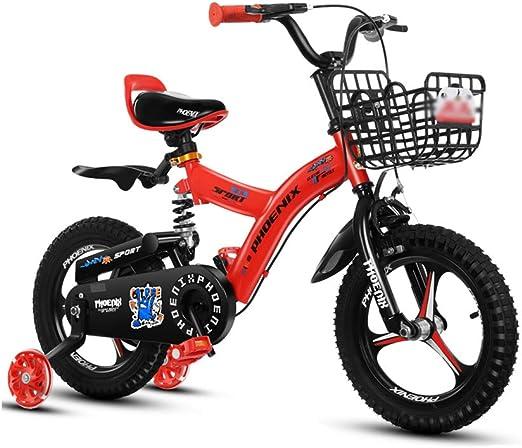 DT La Nueva Bicicleta Amarilla roja para niños 2-3-4-6-7-8-9-10 ...