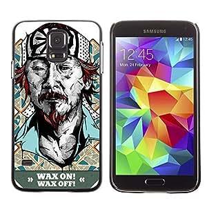 Colorful Printed Hard Protective Back Case Cover Shell Skin for Samsung Galaxy S5 V SM-G900 ( Funny Karate Kid Mr Miagi ) Kimberly Kurzendoerfer