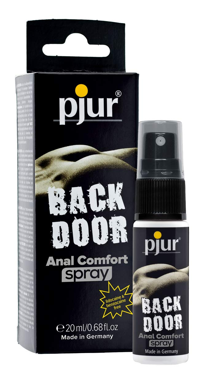 pjur BACK DOOR Anal Comfort Spray - for intense anal sex - with high-quality panthenol & aloe for relaxed pleasure (20ml)