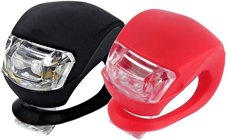 2pcs LED Bici Illumina Impermeabile del Silicone della Bicicletta Esterna delle lampade in Bicicletta Strumento di Illuminazione