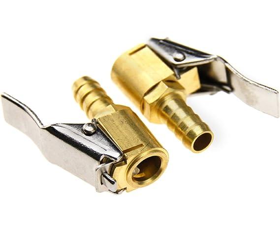 2 Boquillas para bomba de inflado, compresor de latón de 8 mm, neumático: Amazon.es: Bricolaje y herramientas