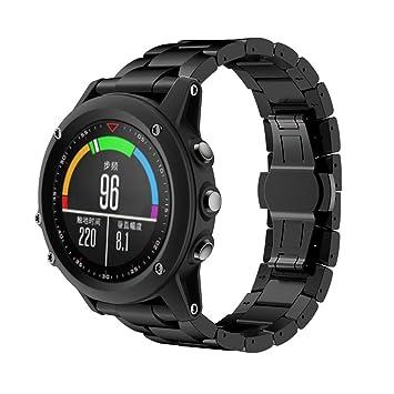 Fulltime(TM) para Garmin Reemplazo Reloj Banda, Titanio Pulsera de Acero muñeca Correa