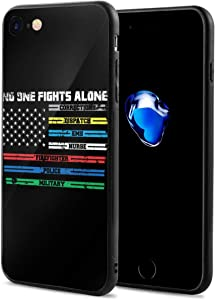 No One Fights Alone First Responders Case for iPhone 7/8 Phone Cases Protective Cover