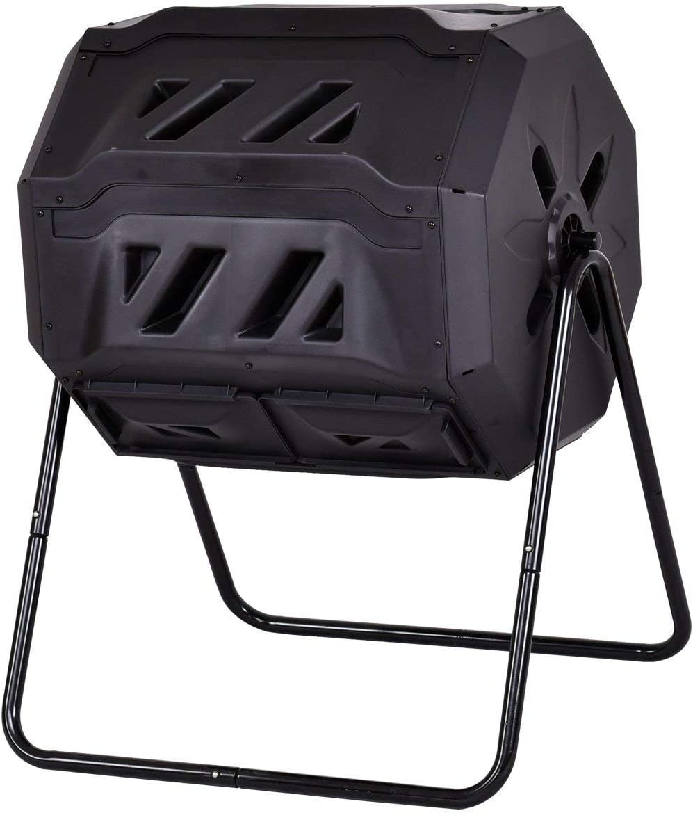 Amazon.com: goplus Compost Tumbler 42-gallon individual ...