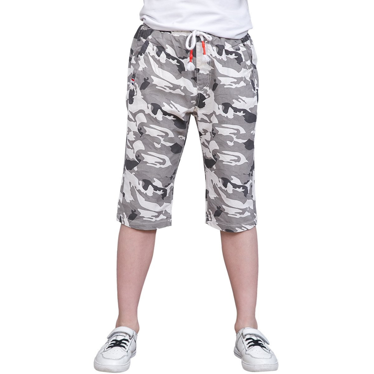 CNMUDONSI Boys Camouflage Short Trousers Summer 2017 Kids Clothes Pants (12T, M718-Gray)