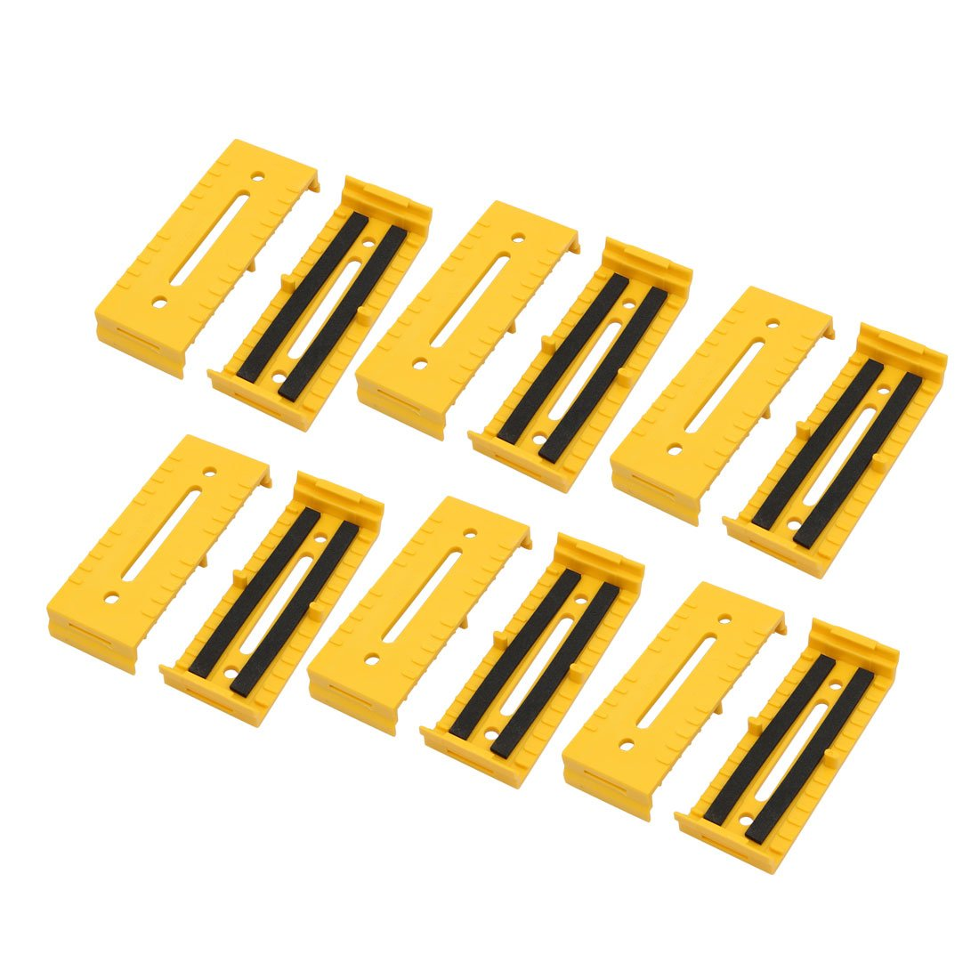 uxcell 12 Pcs Plastic 110mmx40mmx17mm Cable Holder Wire Organizer Yellow for Office