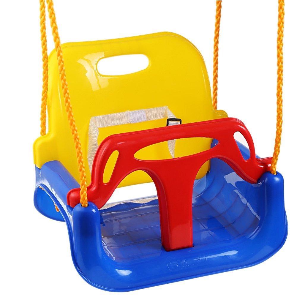 Icerom 3-in-1 幼児用ブランコシート 幼児からティーンまで 取り外し可能 アウトドア 幼児 子供用 吊り下げシート B07GRVJMJ4