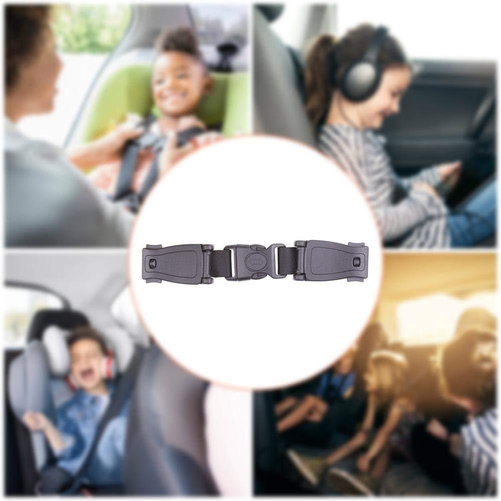 Dynamicoz Auto-Baby-Sicherheits-Sitzgurt Harness Brust Clip-Verschluss-sichere Buckle cool 5pcs sichere Verschluss-Durable-Schwarz-Auto Gurt-Kabelstrang-Kasten Kind Klammer Sicherer Buckle