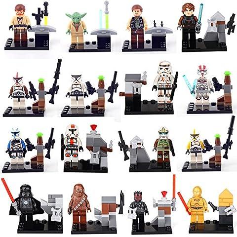 Rogue One A Star Wars Story 16 MiniFigures C-3PO Fett Master Yoda Building lego