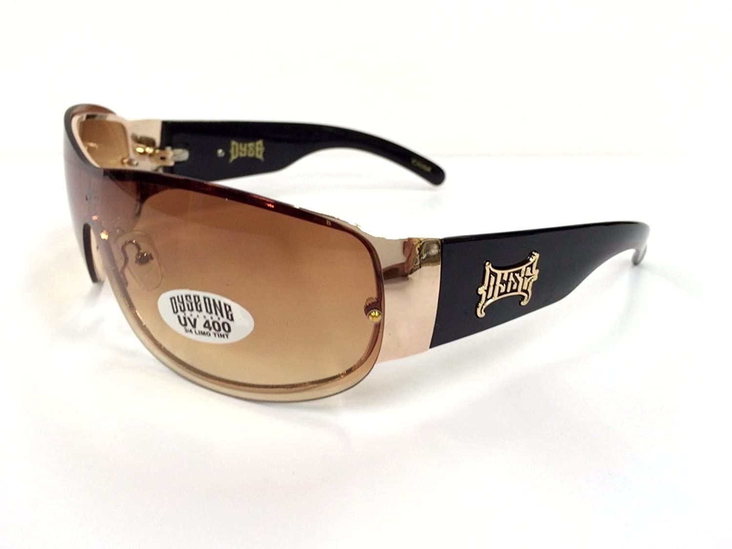 Authentic Dyse One Shades Gold Brown Deluxe Sunglasses California Lowrider Style
