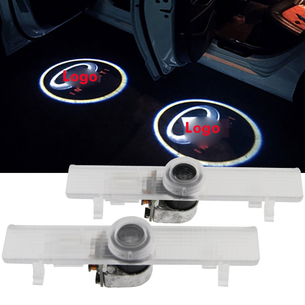 Infiniti LED Car Door Courtesy Light - Led Door Step Laser Projector Logo Ghost Shadow Light For Infiniti QX56 2004-2010 JX35 2013-2014 QX60 2014 Welcome Door Lamp 2pcs-Set shaobo