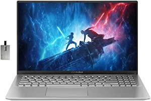 "2020 ASUS VivoBook 15 15.6"" FHD Display Laptop Computer, AMD Ryzen 5-3500U, 12GB RAM, 512GB PCIe SSD, HD Webcam, ASUS SonicMaster, HDMI, AMD Radeon RX Vega 8 Win 10, Silver, 32GB Snow Bell USB Card"