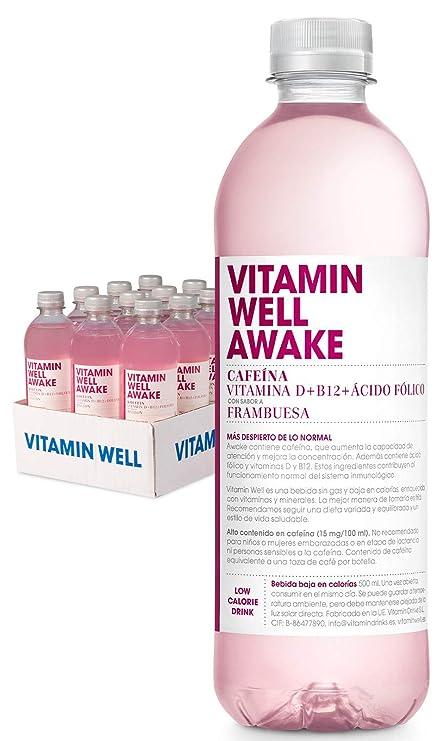 VITAMIN WELL AWAKE 12 x 500ml Una alternativa moderna, más sana y refrescante que los refrescos y zumos azucarados