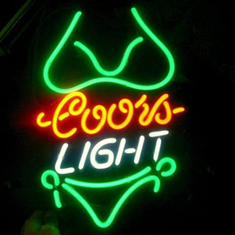 Coors Light Bikini Beer Bar Pub Store Party Room Wall