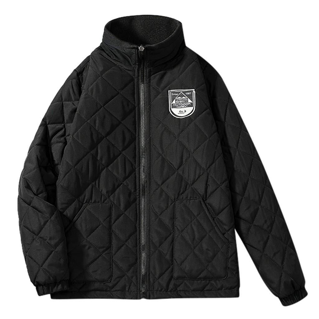 Men's Lightweight Water-Resistant Packable Puffer Jacket Long Sleeve Zipperr Warm Jacket Casual Outwear Tops by VEZARON