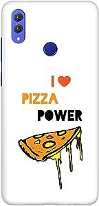Stylizedd Huawei Honor 8X Max Slim Snap Basic Case Cover Matte Finish - I Love Pizza (أبيض)