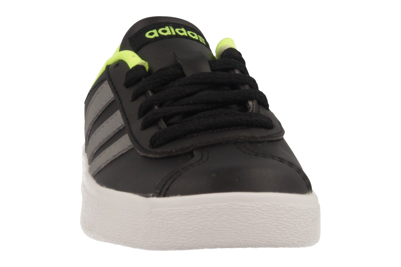 Adidas Unisex-Kinder Weißszlig; VL Court 2.0 K Gymnastikschuhe, Weißszlig; Unisex-Kinder Schwarz (Negbas/Gritre/Ftwbla 000) 7da8e2
