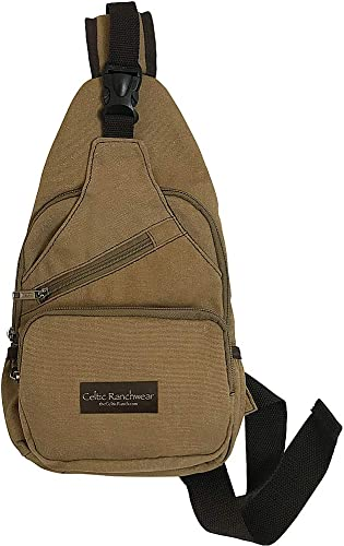 Cotton Canvas Sling Backpack Bag for Travel, Any Outdoor Activity or Just Around Town