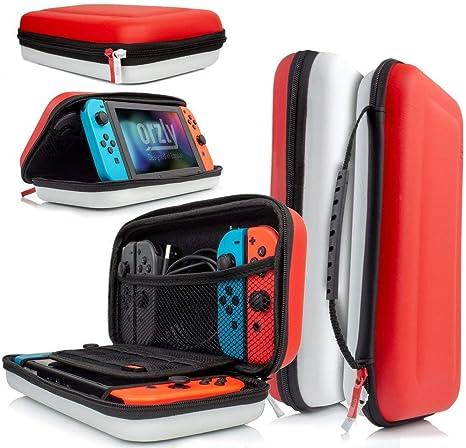 Orzly Funda para Transportar la Nintendo Switch, (Roja/Blanca) Funda Dura de Viaje para Llevar la Nintendo Switch y Sus Accesorios: Amazon.es: Electrónica