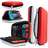 Orzly case for Nintendo Switch - Portable Travel Carry case with Storage for Switch Console Games & Accessories [Red…