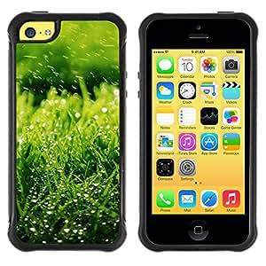 Suave TPU GEL Carcasa Funda Silicona Blando Estuche Caso de protección (para) Apple Iphone 5C / CECELL Phone case / / Nature Green Grass /