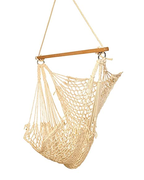 Hangit Cotton Swing Chair (Natural, 50 Centimeters)