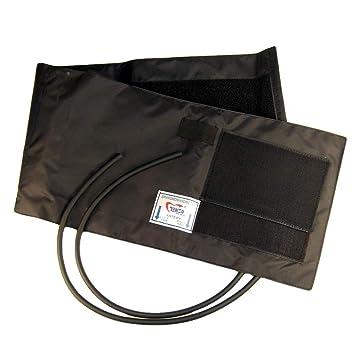 Valuemed Extra grande Manguito de presión arterial esfigmomanómetro 2 tubos adulto grande puños doble tubo de