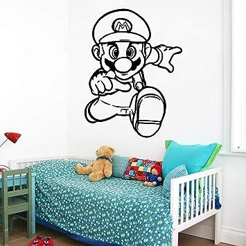 fancjj Neue Super Mario Vinyl Wandaufkleber Tapete Für Baby ...