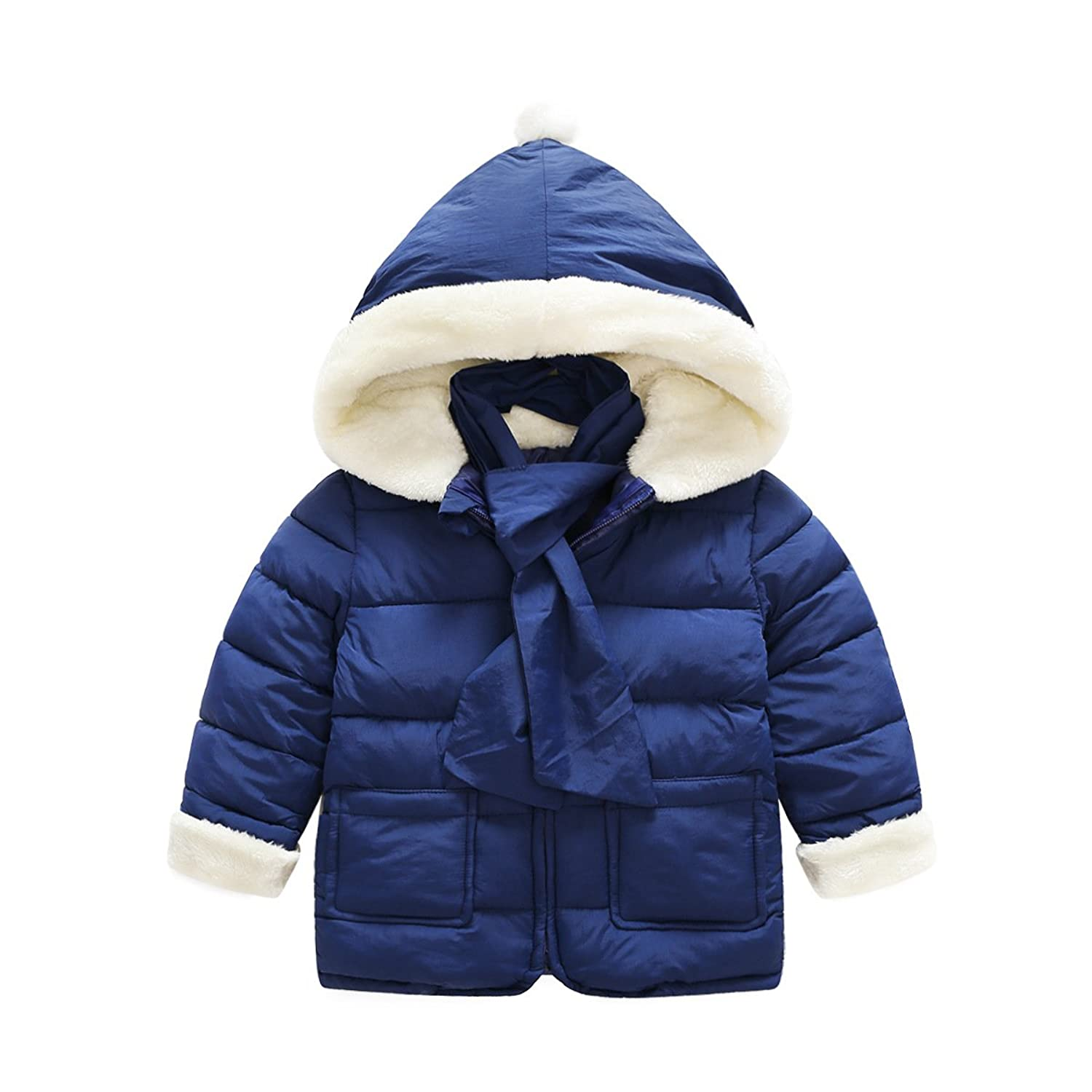 c6a934d660fa2 Baby Girls Boys Kids Warm Sweet Winter Jacket Hooded Cotton Padded clothes  Outerwear Coat Jacket Snowsuit