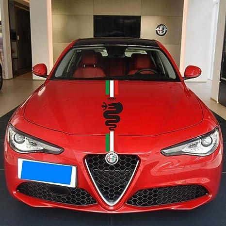 Auto Motorhaube Racing Stripe Grafik Aufkleber Aufkleber Für Alfa Romeo Mito 147 156 156 159 166 Giulietta Stelvio Spider Gt Giulia 120 28cm Auto