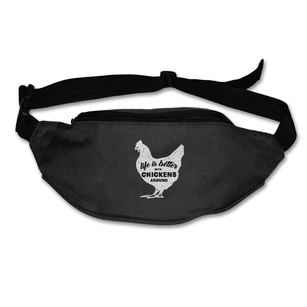 Life Is Better With Chickens Sport Waist Bag Fanny Pack Adjustable For Travel