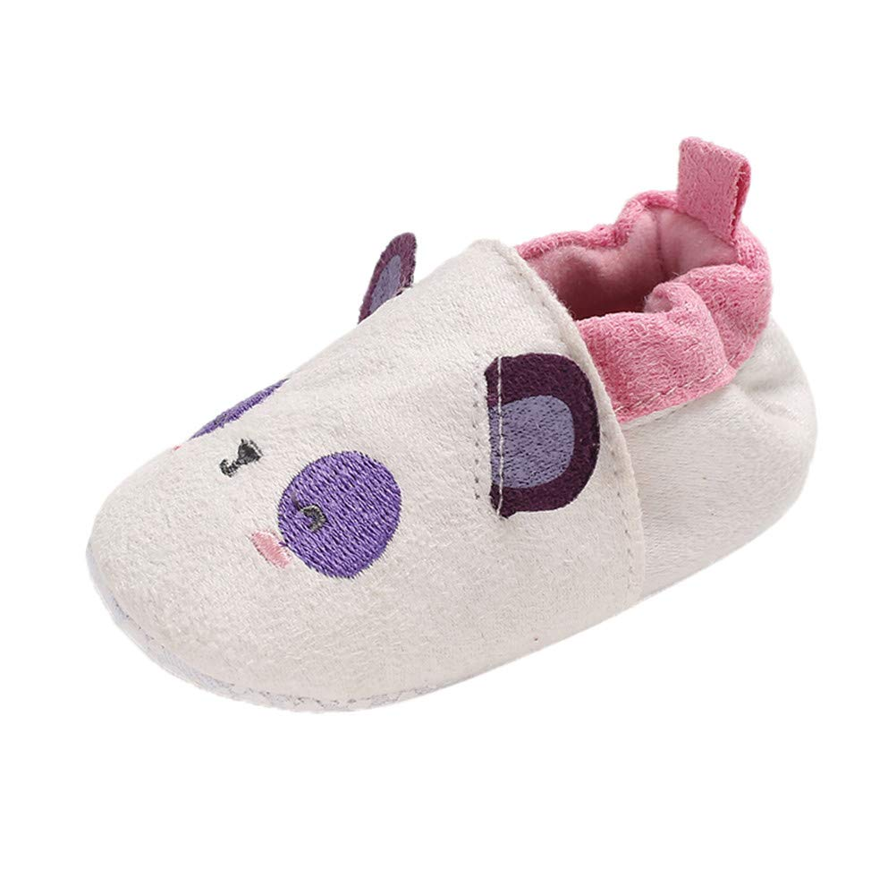 NUWFOR Baby Girl Soft Booties Snow Cartoon Animal Floor Shoes Prewalker Warm Shoes(Purple,6~12 Month)