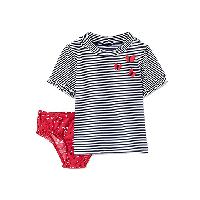 f8d2e4eba Image Unavailable. Image not available for. Color: Just One You Made by  Carter's Toddler Girls' Rash Guard & Bottoms Set ...