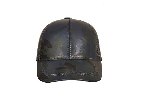 Ciao Vestiti Unixex Adjustable Genuine Leather Baseball Cap Hat Assembled In Usa by Ciao Vestiti