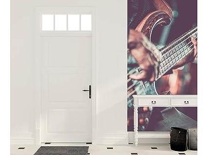 Oedim Cenefa Vertical Entradita Autoadhesiva Vinilo Pared Guitarra electrica | 200 x 240 cm | Decoración