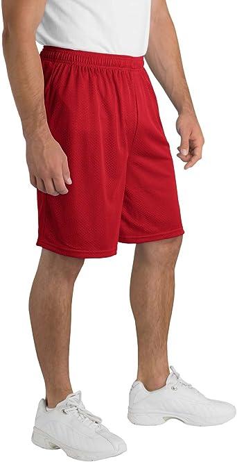 XXXX-Large Red Sport Tek Mens Big Elastic Waist Athletic Short