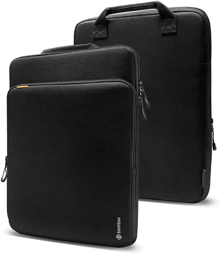 tomtoc Cordura Fabric Laptop Sleeve Designed for 16-inch New MacBook Pro with USB-C A2141, 15-inch MacBook Pro Retina A1398, Waterproof Laptop Accessory Protective Case Bag with Handle