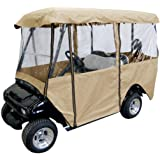Leader Accessories Deluxe 4-Person Golf Cart Cover Storage Driving Enclosure Fit EZ Go, Club Car, Yamaha Cart
