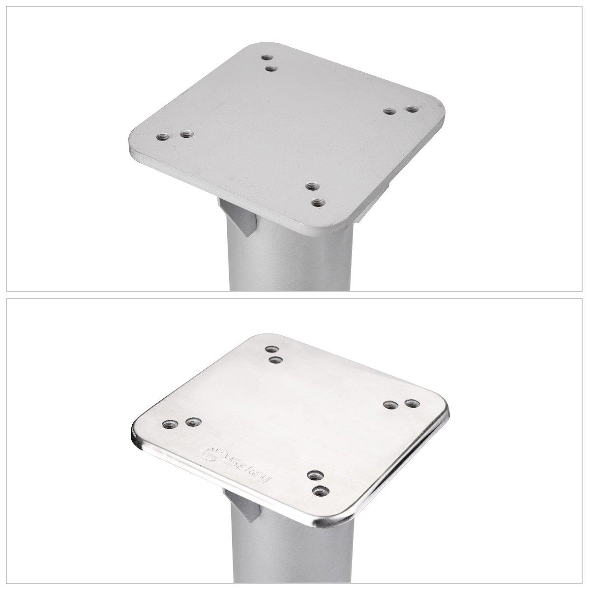 Sekey metal universal base plate//parasol stand for parasol//umbrella//crankcase silver