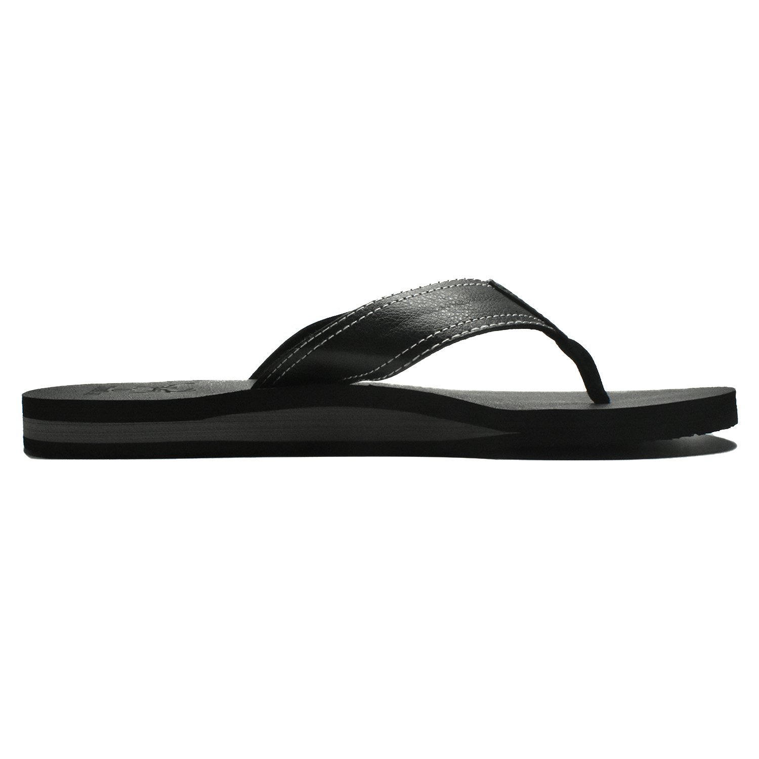 0b535922b COFACE Men s Yoga Mat Flip Flops Leather Thong Sandals with Arch Support   Amazon.co.uk  Shoes   Bags