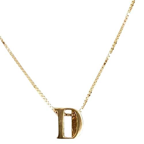 minorista online descuento especial de color rápido Collar colgante inicial D y cadena oro 18 kt 750 oro ...
