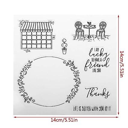 Transparent Clear Silicone Stamp Seal for DIY Scrapbooking Photo Album DIY Decor